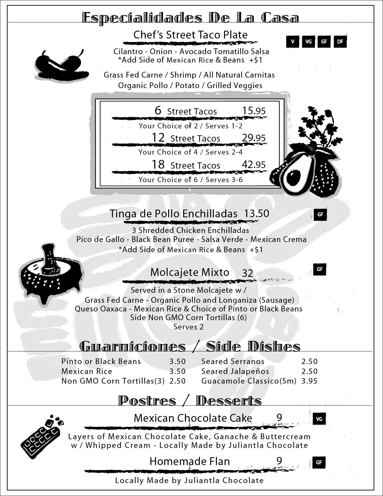 Special & Sides & Dessert